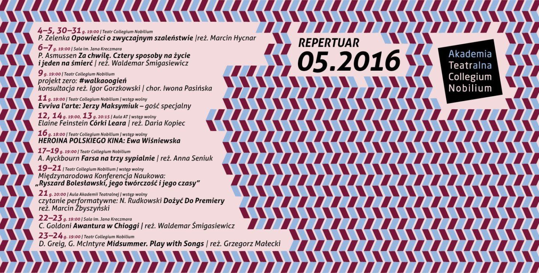 Repertuar TCN – maj 2016