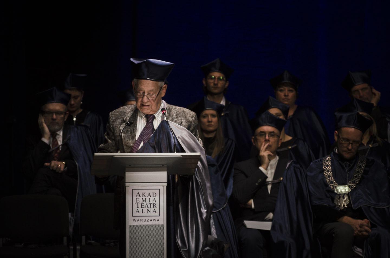 Prof.Richard Schechner doktorem honoris causa Akademii Teatralnej