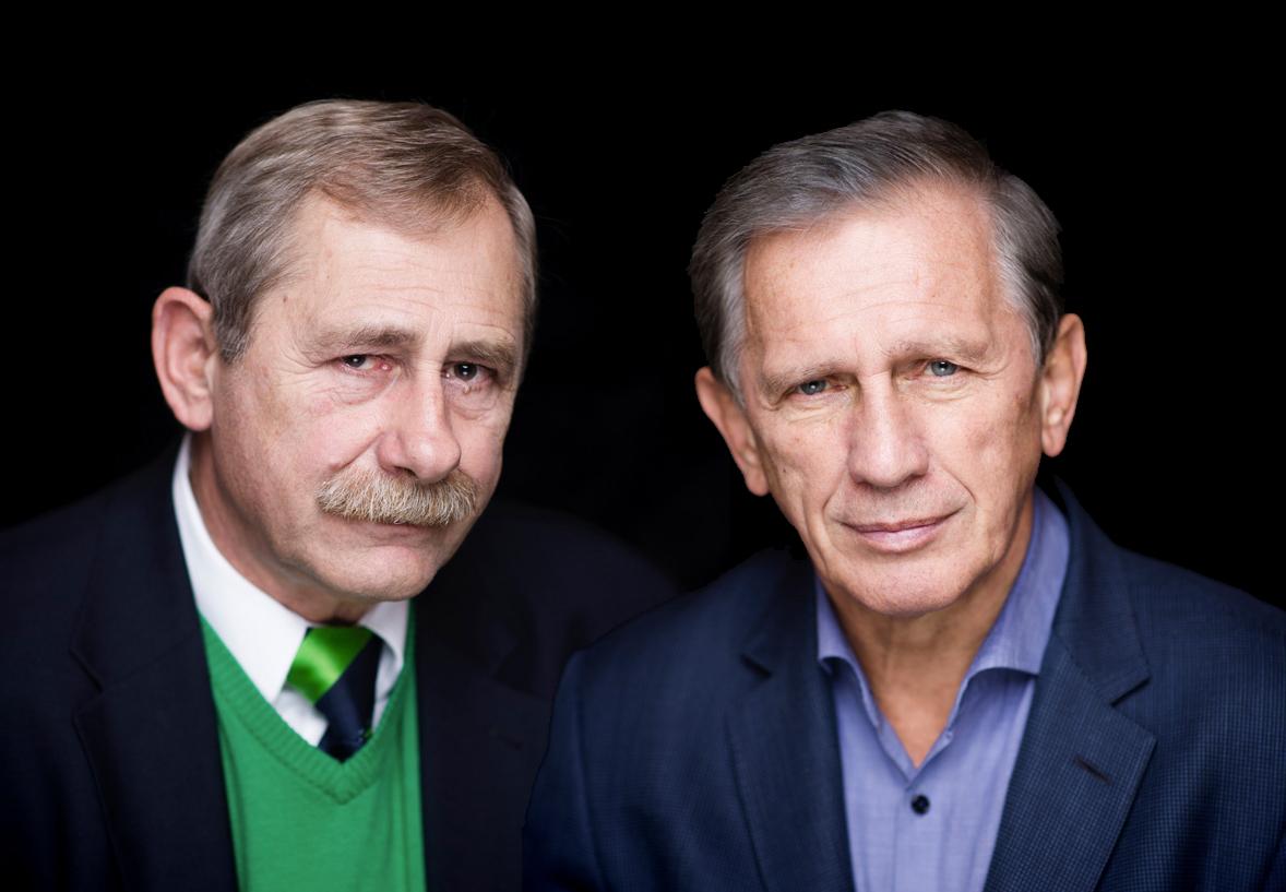 Prof.drhab.Andrzej Strzelecki iprof.Jan Englert nagrodzeni zaosiągnięcia wteatrze telewizji