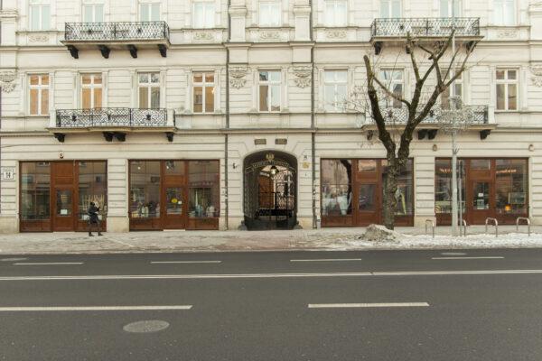 Główne wejście dobudynku AT wBiałymstoku, odul.Sienkiewicza