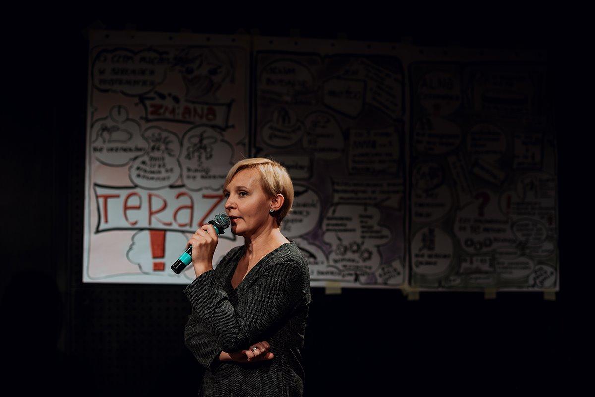 Beata Szczucińska podczas konferencji Zmiana - teraz!