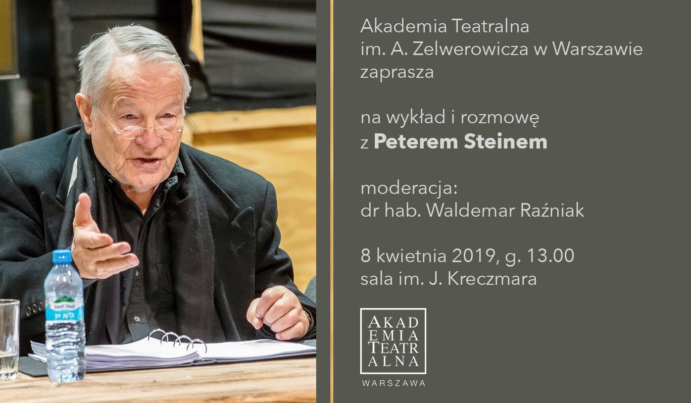Wykład irozmowa zPeterem Steinem
